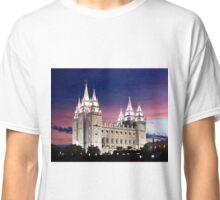 Salt Lake Temple Summer Sunset 20x24 Classic T-Shirt