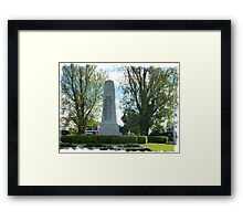 City Of Williamstown - Cenotaph on Strand, Vic. Framed Print