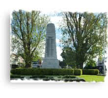 City Of Williamstown - Cenotaph on Strand, Vic. Canvas Print