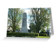 City Of Williamstown - Cenotaph on Strand, Vic. Greeting Card
