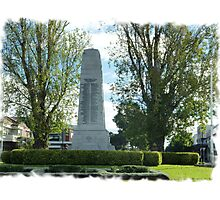 City Of Williamstown - Cenotaph on Strand, Vic. Photographic Print