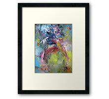 THE MODERN DANCER Framed Print