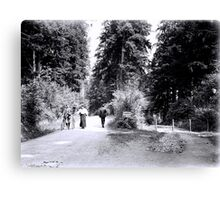 Cyclists in Stanley Park Canvas Print