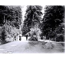 Cyclists in Stanley Park Photographic Print