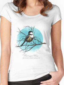 Black-capped Widow Women's Fitted Scoop T-Shirt