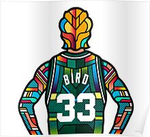 Larry Bird - Stained Glass Poster