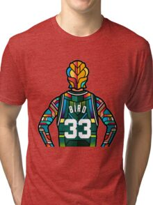 Larry Bird - Stained Glass Tri-blend T-Shirt