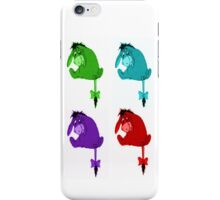 Eeyore is blue, and green, and red and purple iPhone Case/Skin