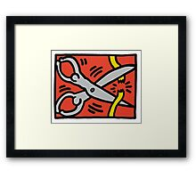 Keith Haring - Scissors- Framed Print