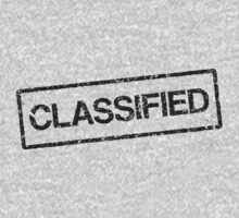 Classified black grunge stamp, tilted Kids Tee