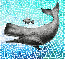 New Friends - Whale & Fish by Eric Fan