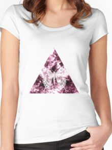 Abstract Butterfly Women's Fitted Scoop T-Shirt