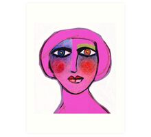 Painted face Diva  Art Print