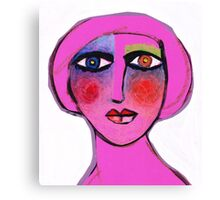Painted face Diva  Canvas Print