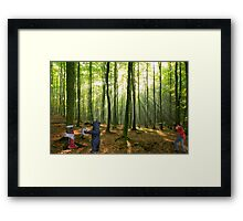 Winston is finally able to capture proof-positive that nature truly does abhor a vacuum. Framed Print