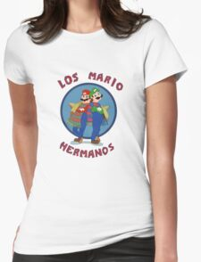 Los Mario Hermanos Womens Fitted T-Shirt