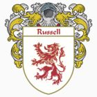 Russell Coat of Arms / Russell Family Crest by William Martin