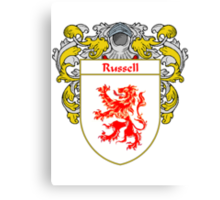 Russell Coat of Arms / Russell Family Crest Canvas Print