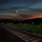 Housatonic Railroad Sunset by Bill Wakeley