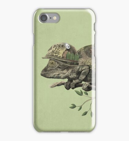 Born to Hide - color option iPhone Case/Skin
