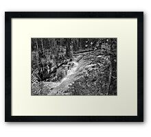 1st Tier - Terraced Falls  B&W Framed Print