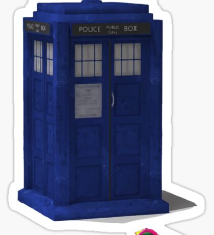 Back to the Tardis! Sticker