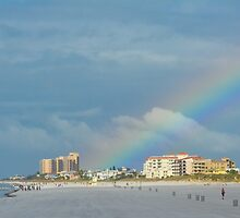 Rainbow over Clearwater Beach by Imagery