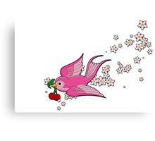 Pink Swallow Canvas Print