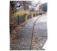 Pretty Sidewalk Poster