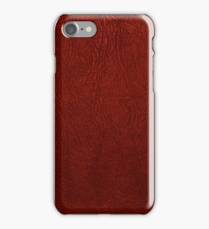 Leather Texture, Leather Background - Red iPhone Case/Skin