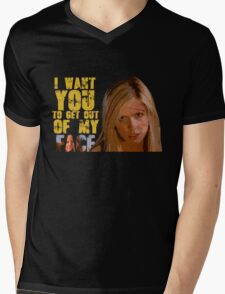 Get Out Of My Face Mens V-Neck T-Shirt
