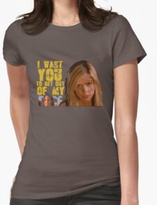 Get Out Of My Face Womens Fitted T-Shirt