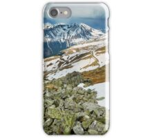 Mountain range in the spring iPhone Case/Skin
