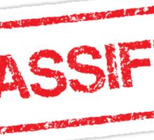 Classified red grunge stamp sticker Sticker