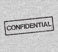 Confidential black grunge stamp, tilted Kids Tee
