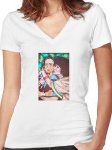 Mr. and Mrs. Roper Women's Fitted V-Neck T-Shirt