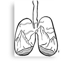 righteous lungs Canvas Print