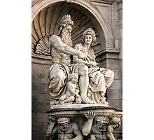 Vienna Austria, Neptune Fountain Photographic Print