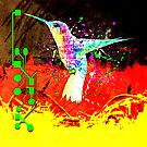digital hummingbird & (germany Flag) by sebmcnulty