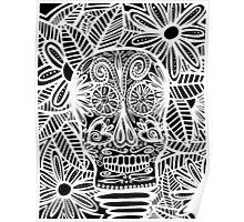 Skull Negative Poster
