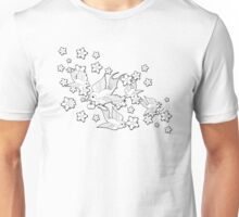 Black and White Swallow Pattern Unisex T-Shirt