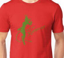 Krampus 24 Green on Red Unisex T-Shirt