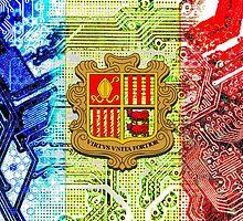 circuit board Andorra (flag) by sebmcnulty