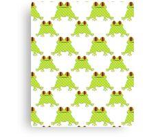 Cute Frog Pattern Canvas Print