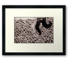 Walking on the moon  Framed Print