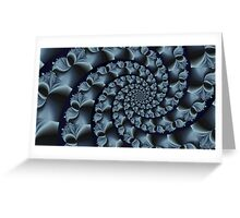 Spirally Blue Greeting Card