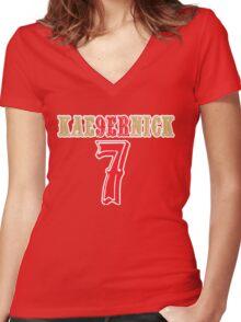 [CLASSIC] KAE9ERNICK 7 - QB #7 Colin Kaepernick of the San Francisco 49ers Women's Fitted V-Neck T-Shirt