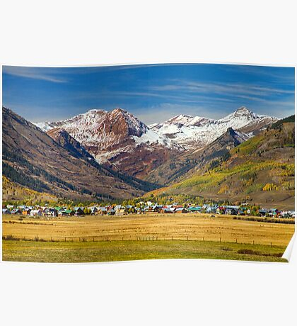 Crested Butte Colorado Autumn View Poster