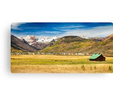 Crested Butte City Colorado Panorama View Canvas Print