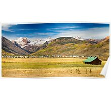 Crested Butte City Colorado Panorama View Poster